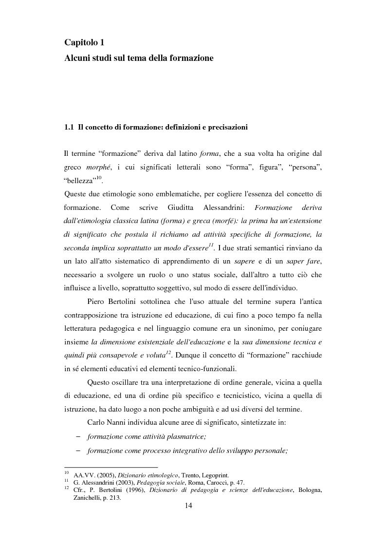 Anteprima della tesi: Formazione e Progetto di vita. Alcuni studi e riflessioni collegati al territorio cesenate, Pagina 12