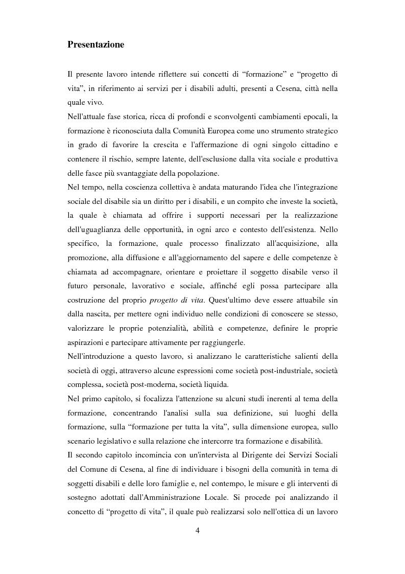 Anteprima della tesi: Formazione e Progetto di vita. Alcuni studi e riflessioni collegati al territorio cesenate, Pagina 2