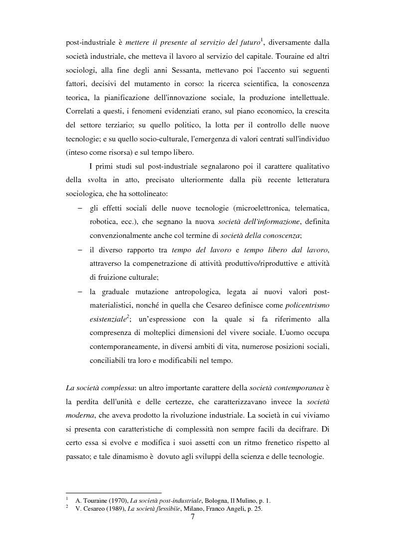 Anteprima della tesi: Formazione e Progetto di vita. Alcuni studi e riflessioni collegati al territorio cesenate, Pagina 5