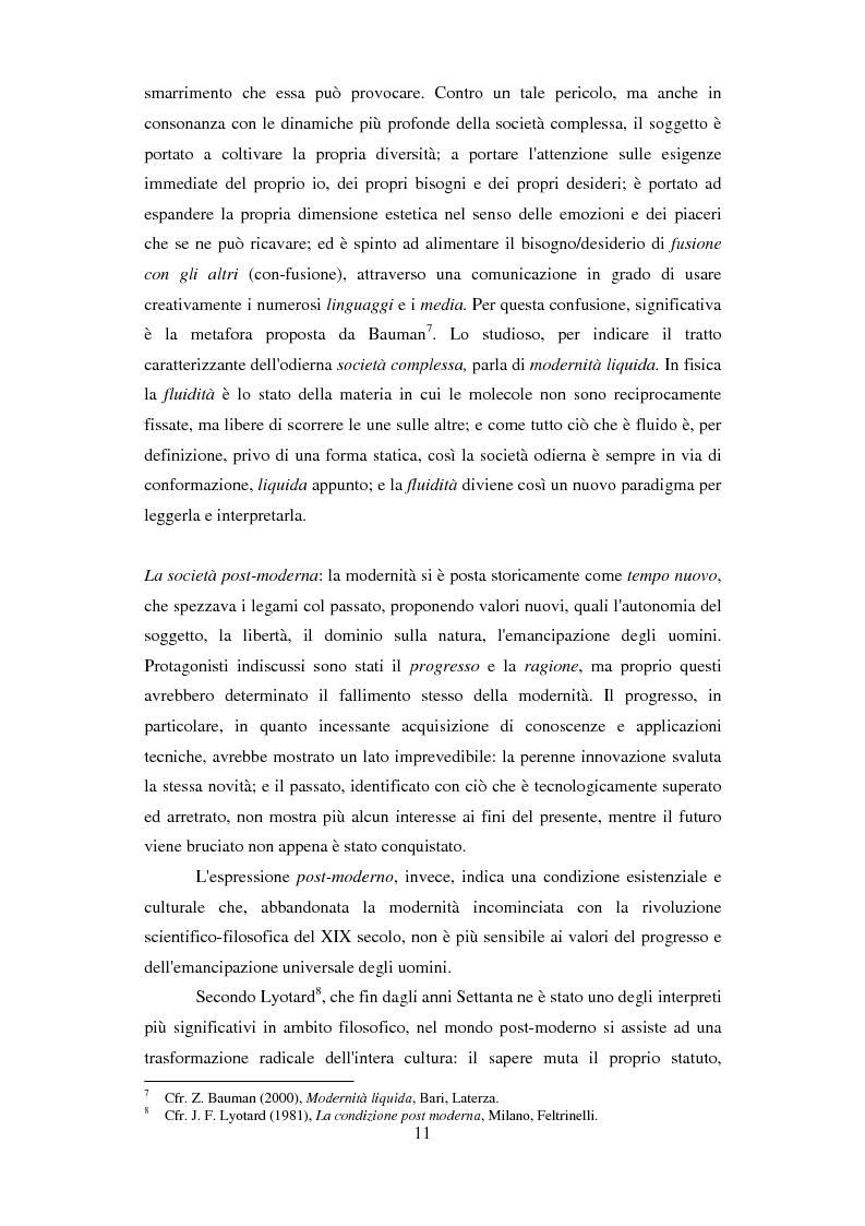 Anteprima della tesi: Formazione e Progetto di vita. Alcuni studi e riflessioni collegati al territorio cesenate, Pagina 9