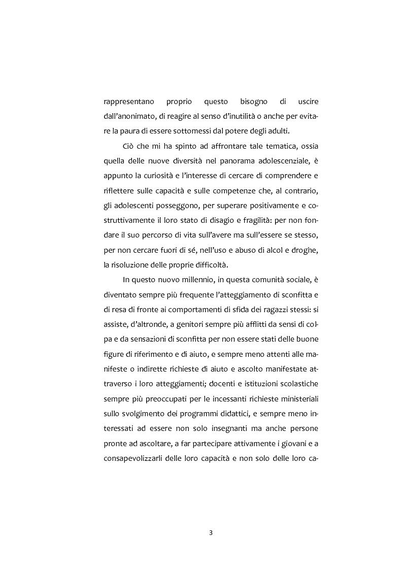 Anteprima della tesi: Adolescenti e Nuove diversità. Progettare Prevenzione, Pagina 3