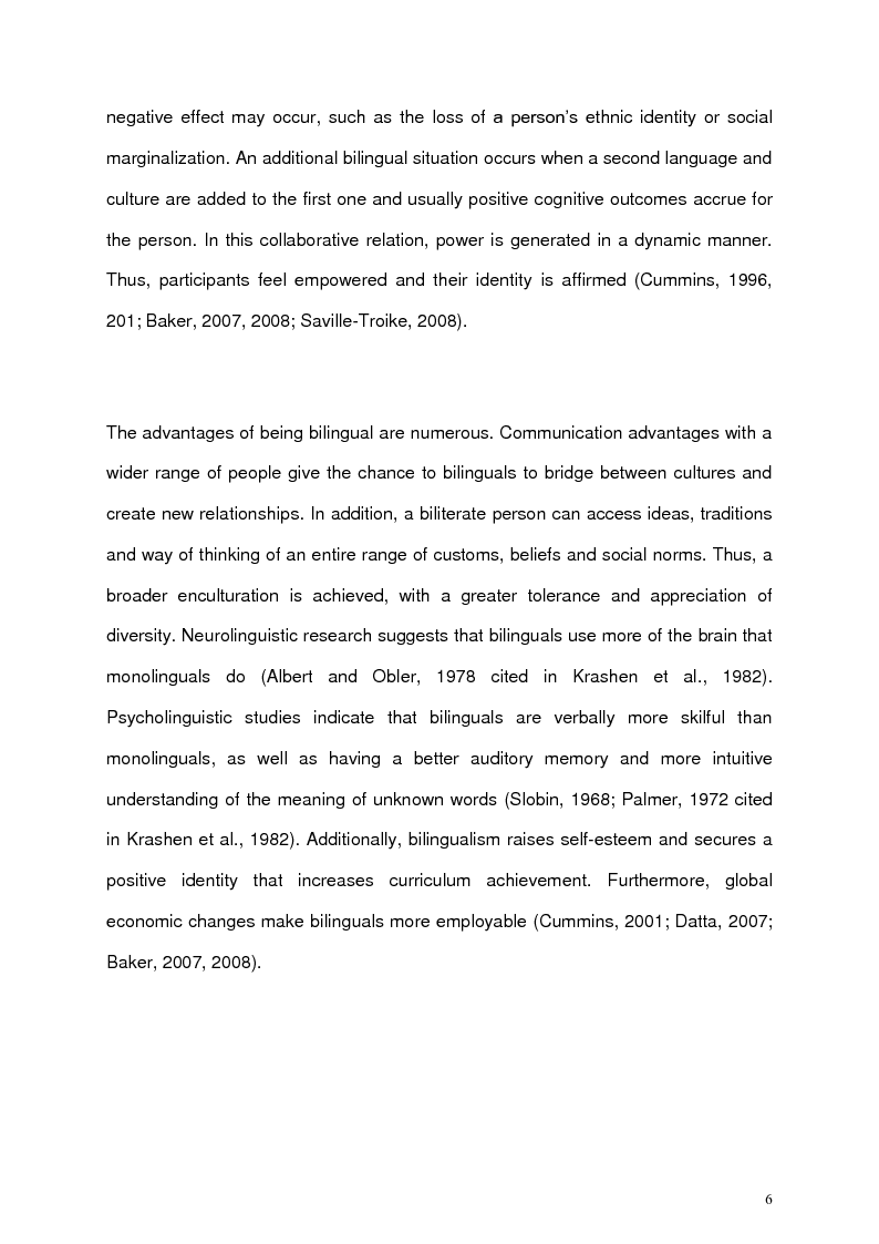 Anteprima della tesi: An exploration with three bilingual children's engagement with learning Spanish as an after-school club, Pagina 7