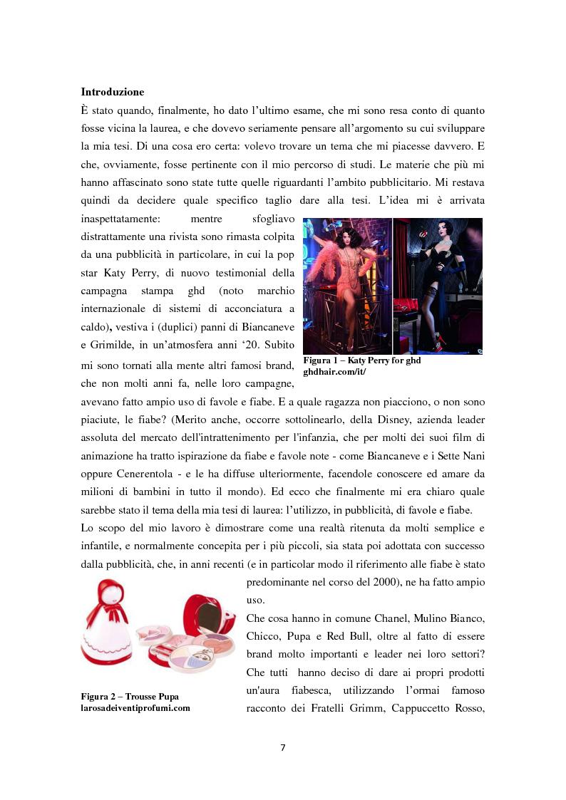 Anteprima della tesi: 30 secondi da favola: quando il mondo delle fiabe incontra quello della pubblicità, Pagina 2