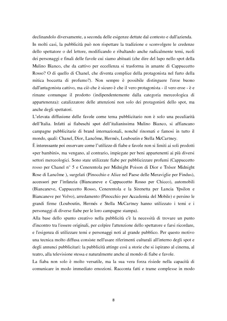 Anteprima della tesi: 30 secondi da favola: quando il mondo delle fiabe incontra quello della pubblicità, Pagina 3