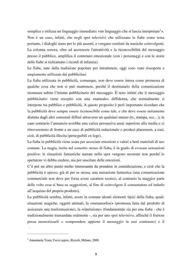 Anteprima della tesi: 30 secondi da favola: quando il mondo delle fiabe incontra quello della pubblicità, Pagina 4