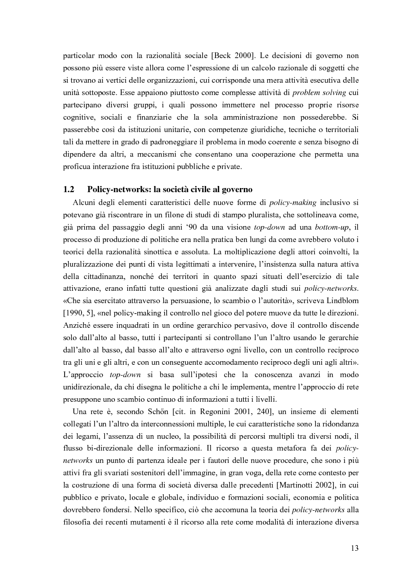 Anteprima della tesi: Partecipazione, cittadinanza attiva e nuovi modelli di governance. Uno studio di caso nell'area genovese, Pagina 10
