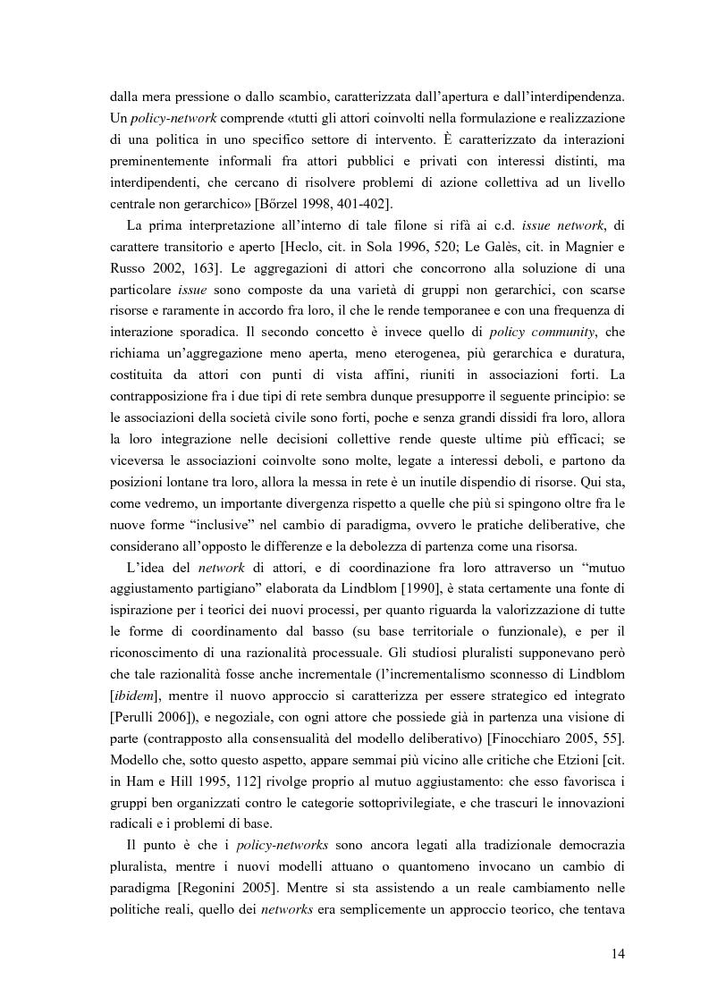 Anteprima della tesi: Partecipazione, cittadinanza attiva e nuovi modelli di governance. Uno studio di caso nell'area genovese, Pagina 11
