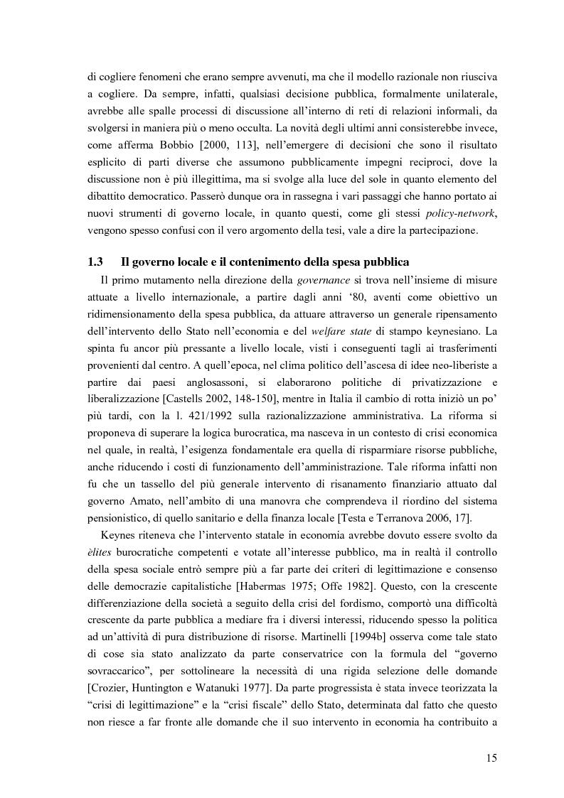 Anteprima della tesi: Partecipazione, cittadinanza attiva e nuovi modelli di governance. Uno studio di caso nell'area genovese, Pagina 12