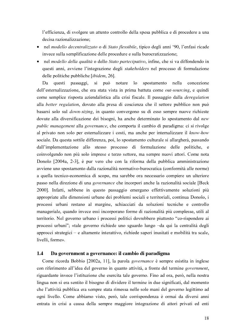 Anteprima della tesi: Partecipazione, cittadinanza attiva e nuovi modelli di governance. Uno studio di caso nell'area genovese, Pagina 15