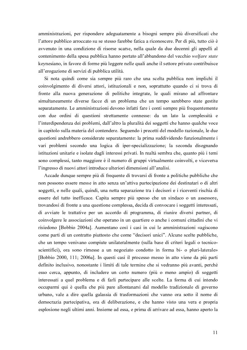 Anteprima della tesi: Partecipazione, cittadinanza attiva e nuovi modelli di governance. Uno studio di caso nell'area genovese, Pagina 8