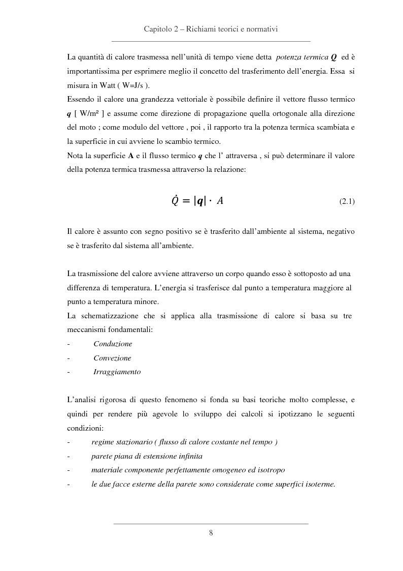 Anteprima della tesi: Influenze dei dettagli costruttivi sull'isolamento termico degli edifici, Pagina 9