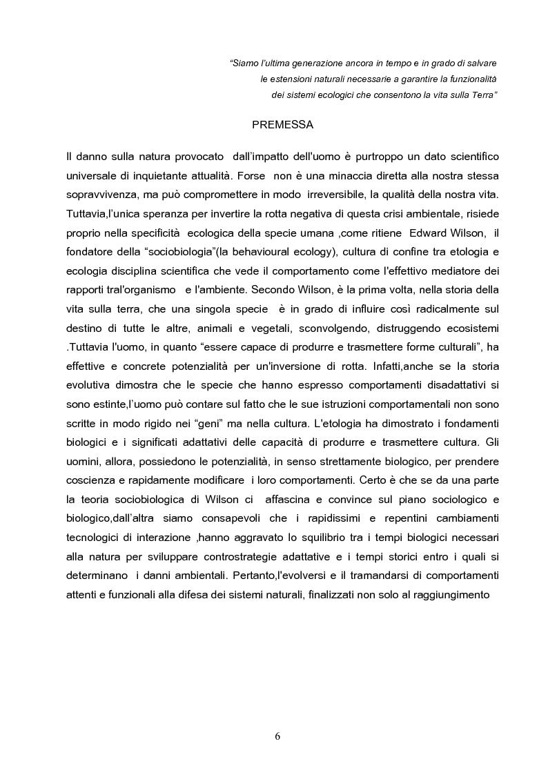 Anteprima della tesi: Riserve Naturali e Turismo Ecosostenibile, Pagina 5