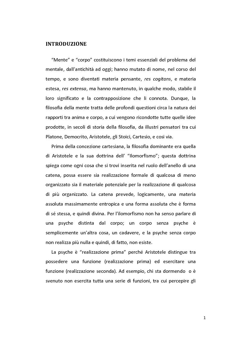 Anteprima della tesi: Il Funzionalismo di Hilary Putnam, Pagina 2