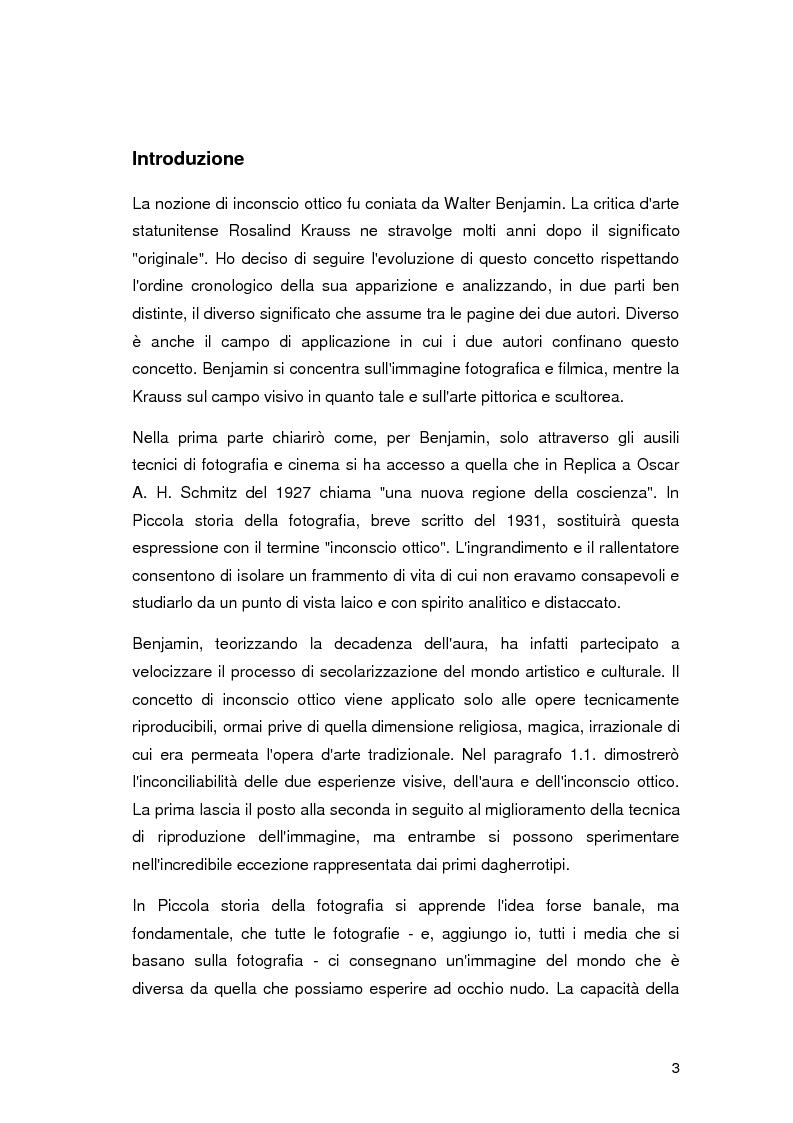Anteprima della tesi: L'inconscio ottico in Walter Benjamin e Rosalind Krauss, Pagina 2