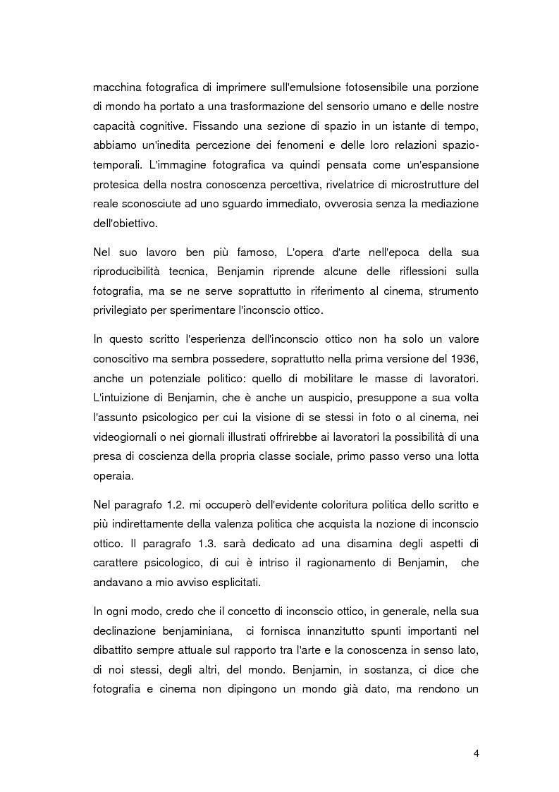 Anteprima della tesi: L'inconscio ottico in Walter Benjamin e Rosalind Krauss, Pagina 3