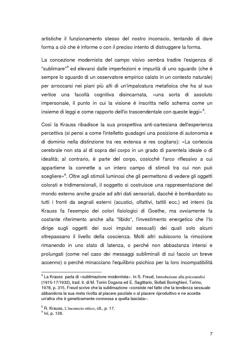 Anteprima della tesi: L'inconscio ottico in Walter Benjamin e Rosalind Krauss, Pagina 6