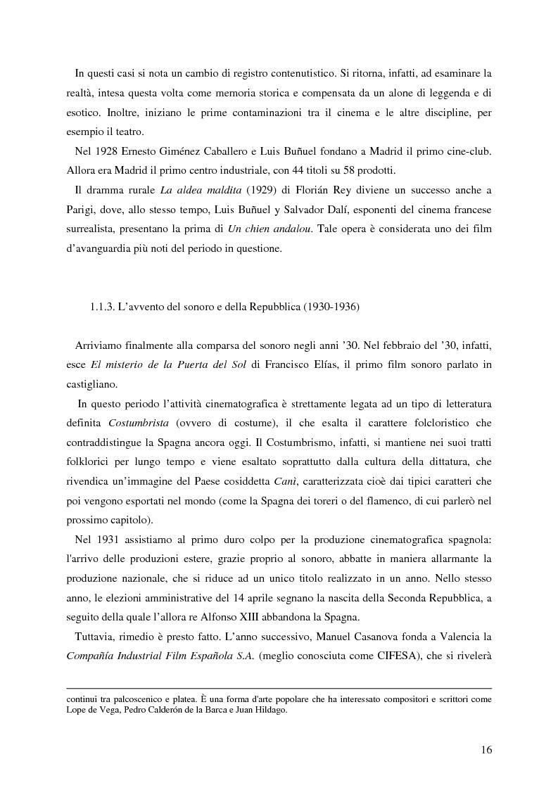 Anteprima della tesi: La rappresentazione della Spagna nel cinema contemporaneo: aspetti estetici, semiotici ed economici, Pagina 10