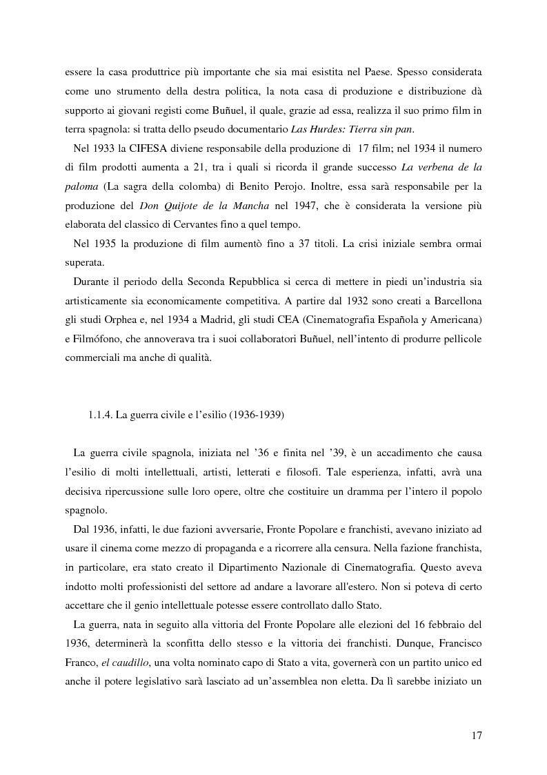 Anteprima della tesi: La rappresentazione della Spagna nel cinema contemporaneo: aspetti estetici, semiotici ed economici, Pagina 11
