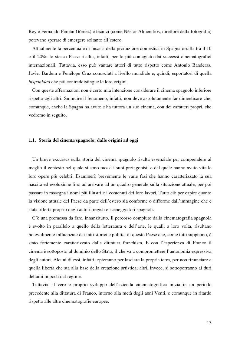 Anteprima della tesi: La rappresentazione della Spagna nel cinema contemporaneo: aspetti estetici, semiotici ed economici, Pagina 7
