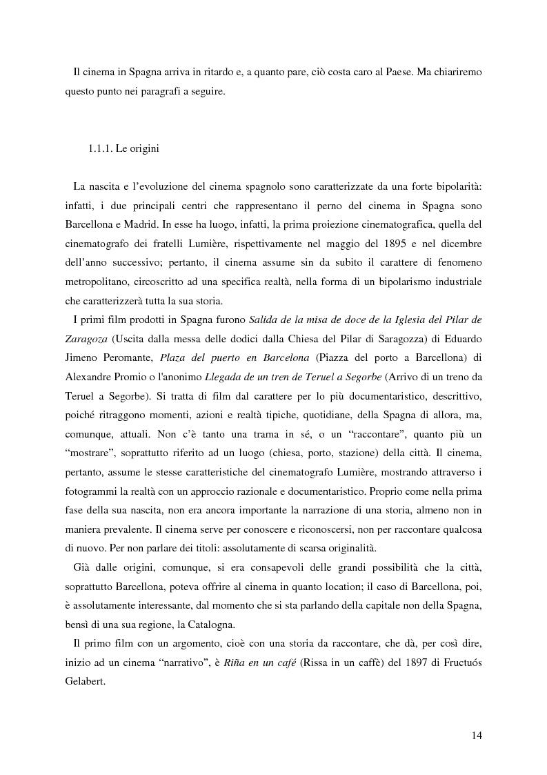 Anteprima della tesi: La rappresentazione della Spagna nel cinema contemporaneo: aspetti estetici, semiotici ed economici, Pagina 8