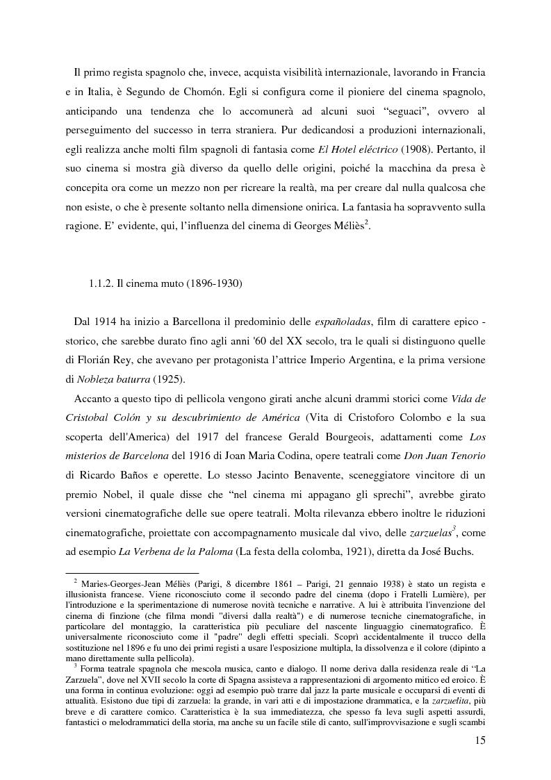 Anteprima della tesi: La rappresentazione della Spagna nel cinema contemporaneo: aspetti estetici, semiotici ed economici, Pagina 9