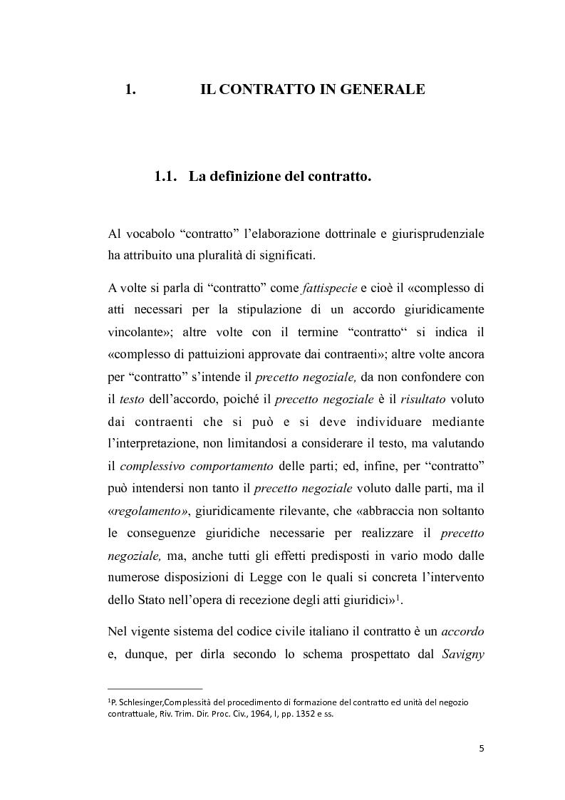 Anteprima della tesi: Proposta irrevocabile e patto d'opzione, Pagina 2