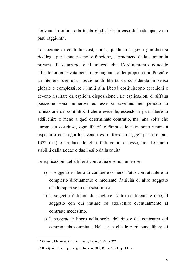 Anteprima della tesi: Proposta irrevocabile e patto d'opzione, Pagina 6