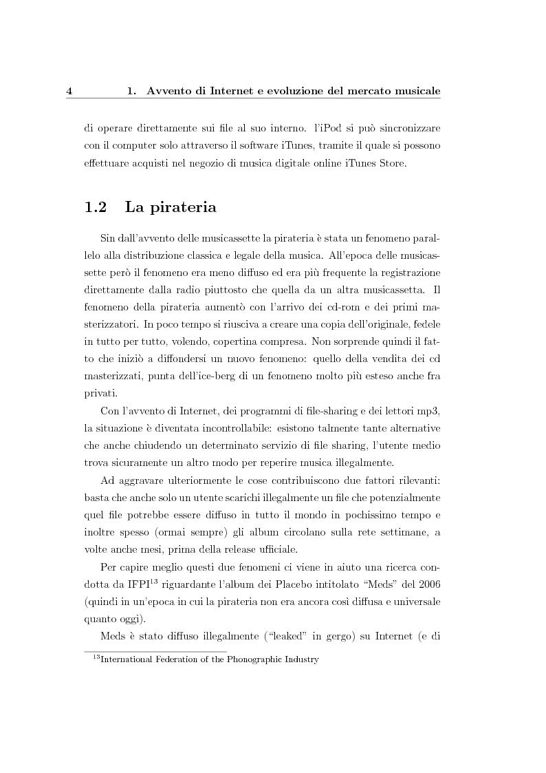 Anteprima della tesi: Nuovi modelli di business per l'industria musicale: le nuove opportunità nell'era di Internet, Pagina 7