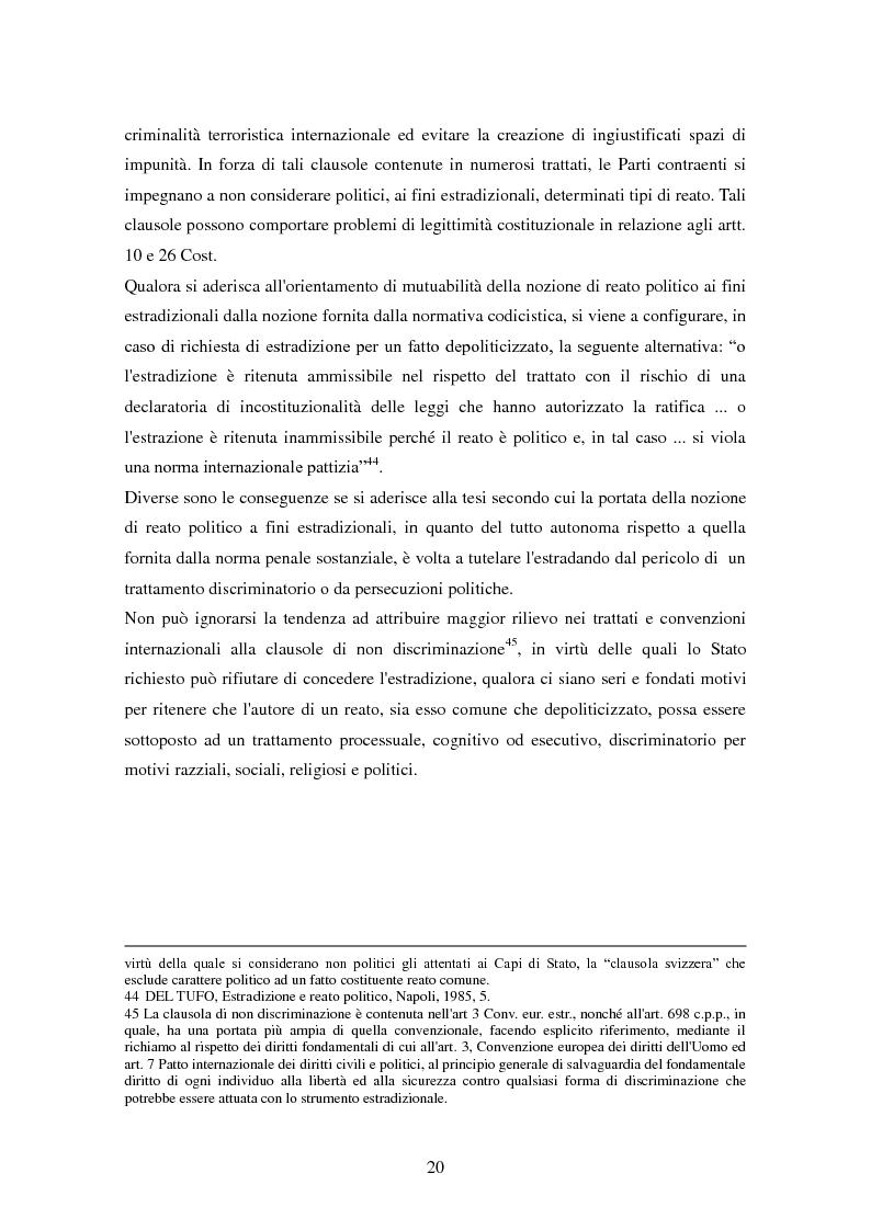 Estratto dalla tesi: Le procedure di consegna: dall'estradizione al mandato di arresto europeo