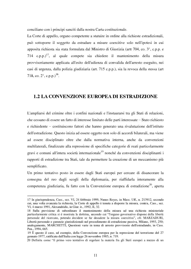 Anteprima della tesi: Le procedure di consegna: dall'estradizione al mandato di arresto europeo, Pagina 11