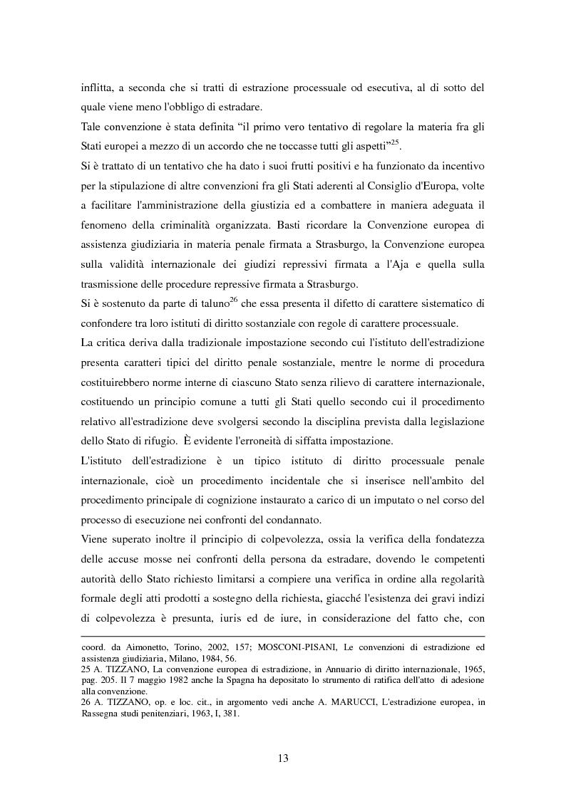 Anteprima della tesi: Le procedure di consegna: dall'estradizione al mandato di arresto europeo, Pagina 13