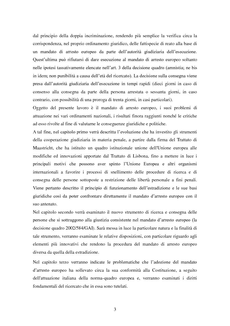 Anteprima della tesi: Le procedure di consegna: dall'estradizione al mandato di arresto europeo, Pagina 3