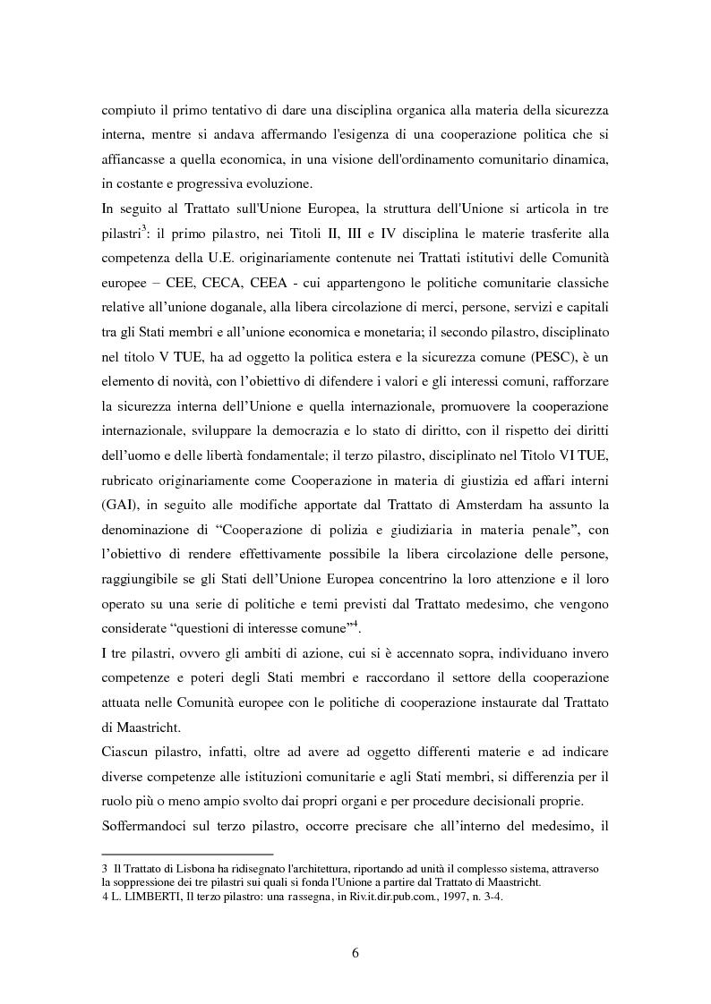 Anteprima della tesi: Le procedure di consegna: dall'estradizione al mandato di arresto europeo, Pagina 6