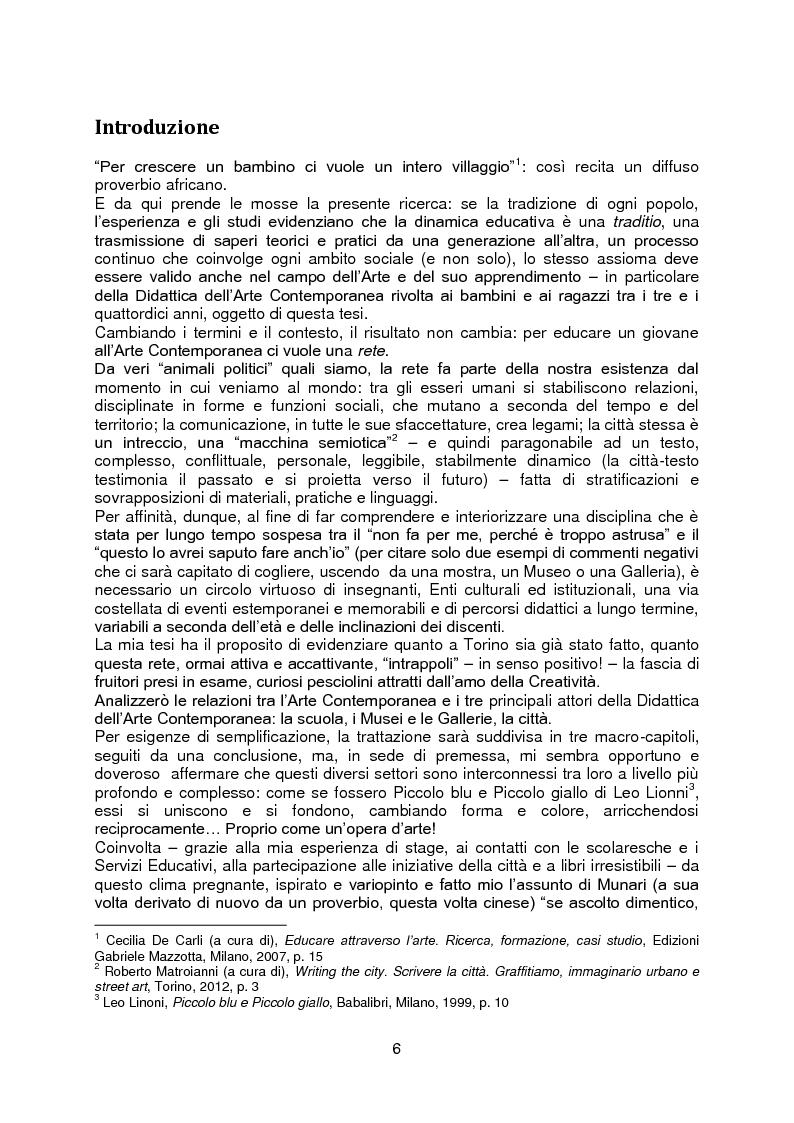 Anteprima della tesi: La rete della Creatività: le occasioni di avvicinamento all'Arte Contemporanea per i bambini e i ragazzi tra i 3 e i 14 anni, Pagina 2
