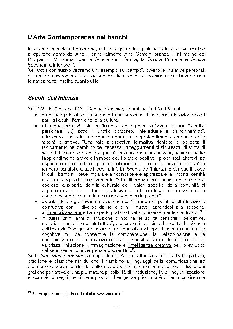 Anteprima della tesi: La rete della Creatività: le occasioni di avvicinamento all'Arte Contemporanea per i bambini e i ragazzi tra i 3 e i 14 anni, Pagina 7
