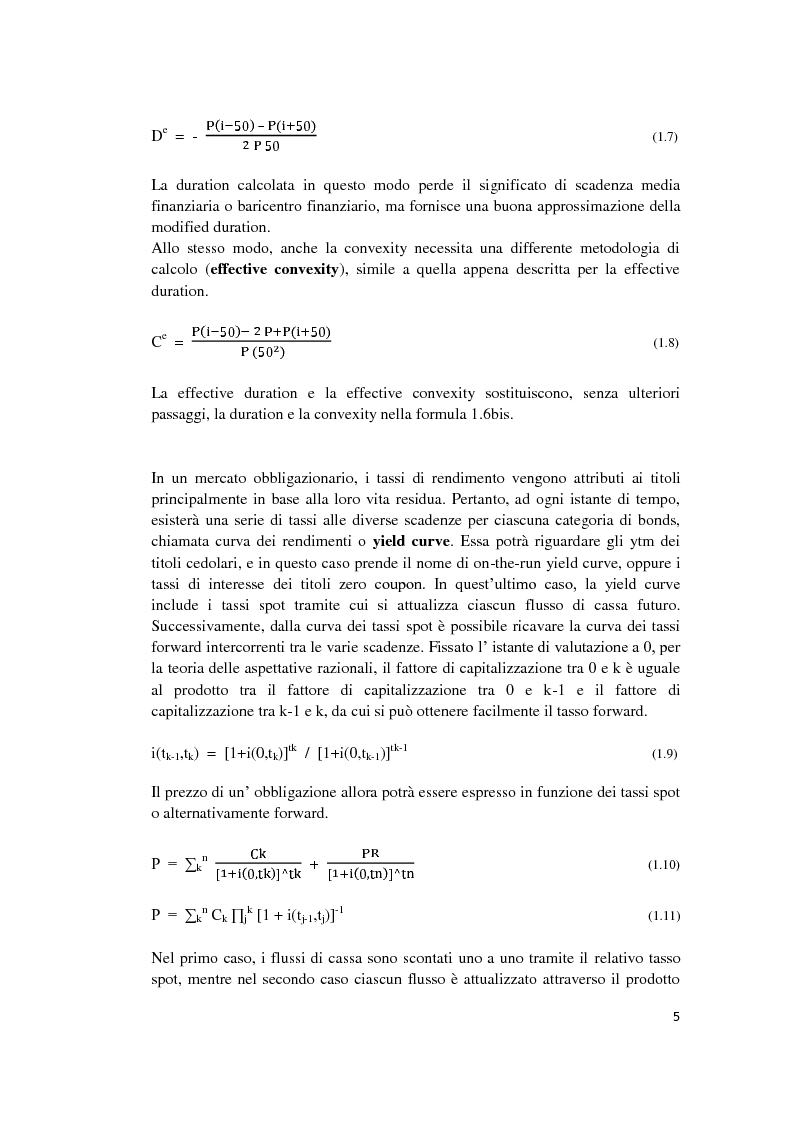 Anteprima della tesi: Fixed Income Performance Attribution, Pagina 11