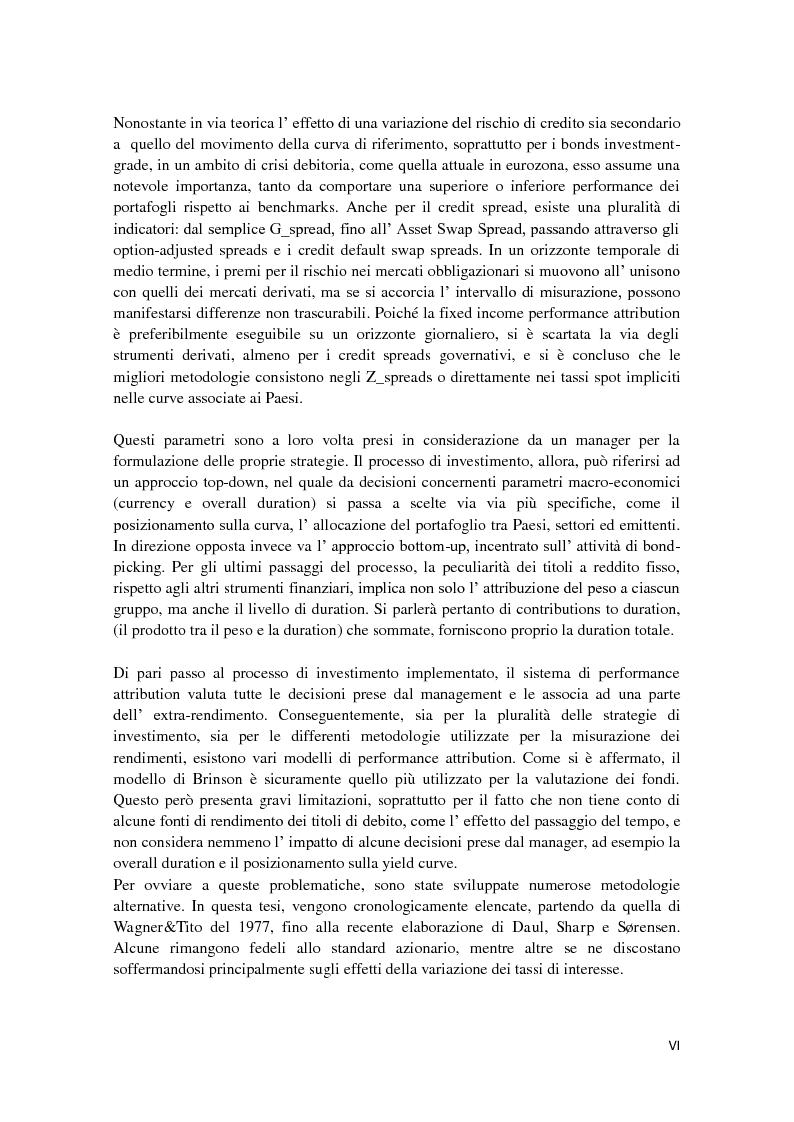 Anteprima della tesi: Fixed Income Performance Attribution, Pagina 3