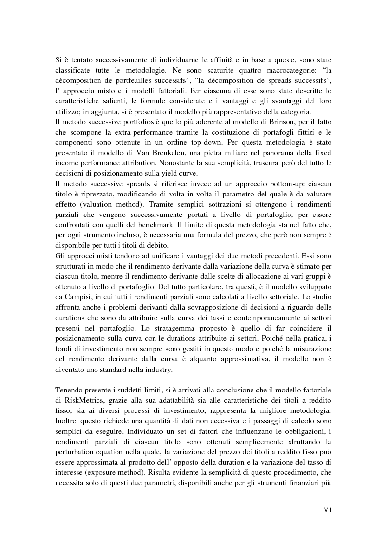 Anteprima della tesi: Fixed Income Performance Attribution, Pagina 4