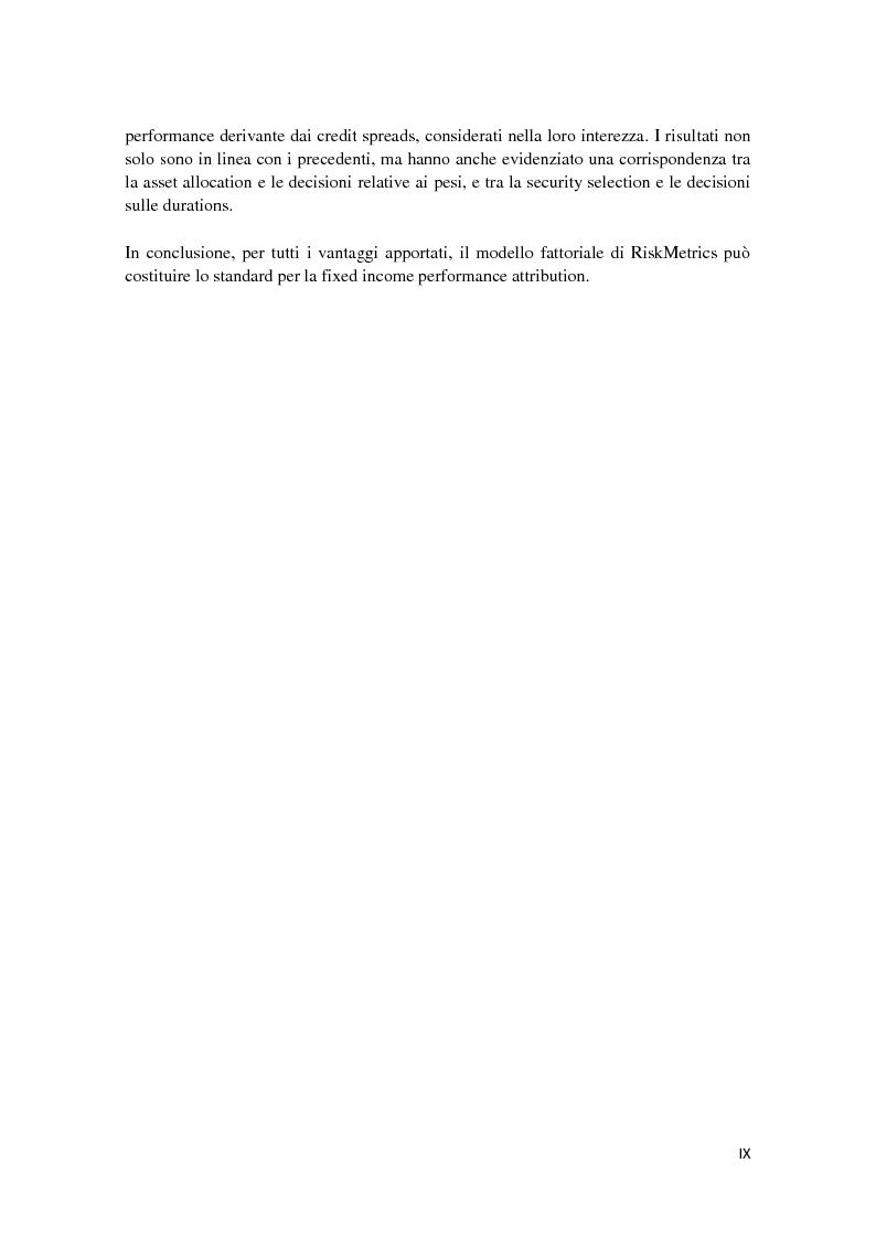 Anteprima della tesi: Fixed Income Performance Attribution, Pagina 6