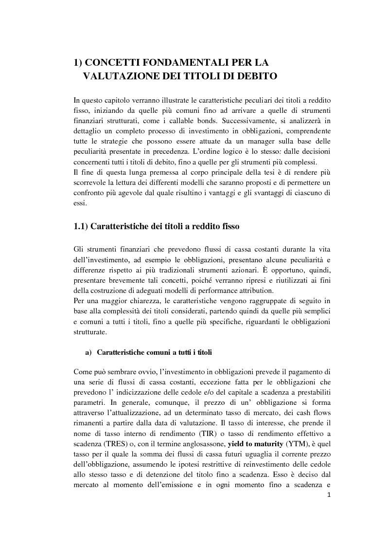 Anteprima della tesi: Fixed Income Performance Attribution, Pagina 7