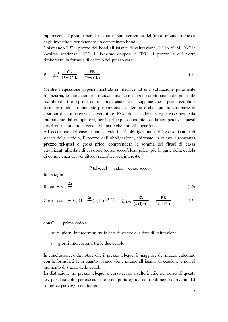 Anteprima della tesi: Fixed Income Performance Attribution, Pagina 8
