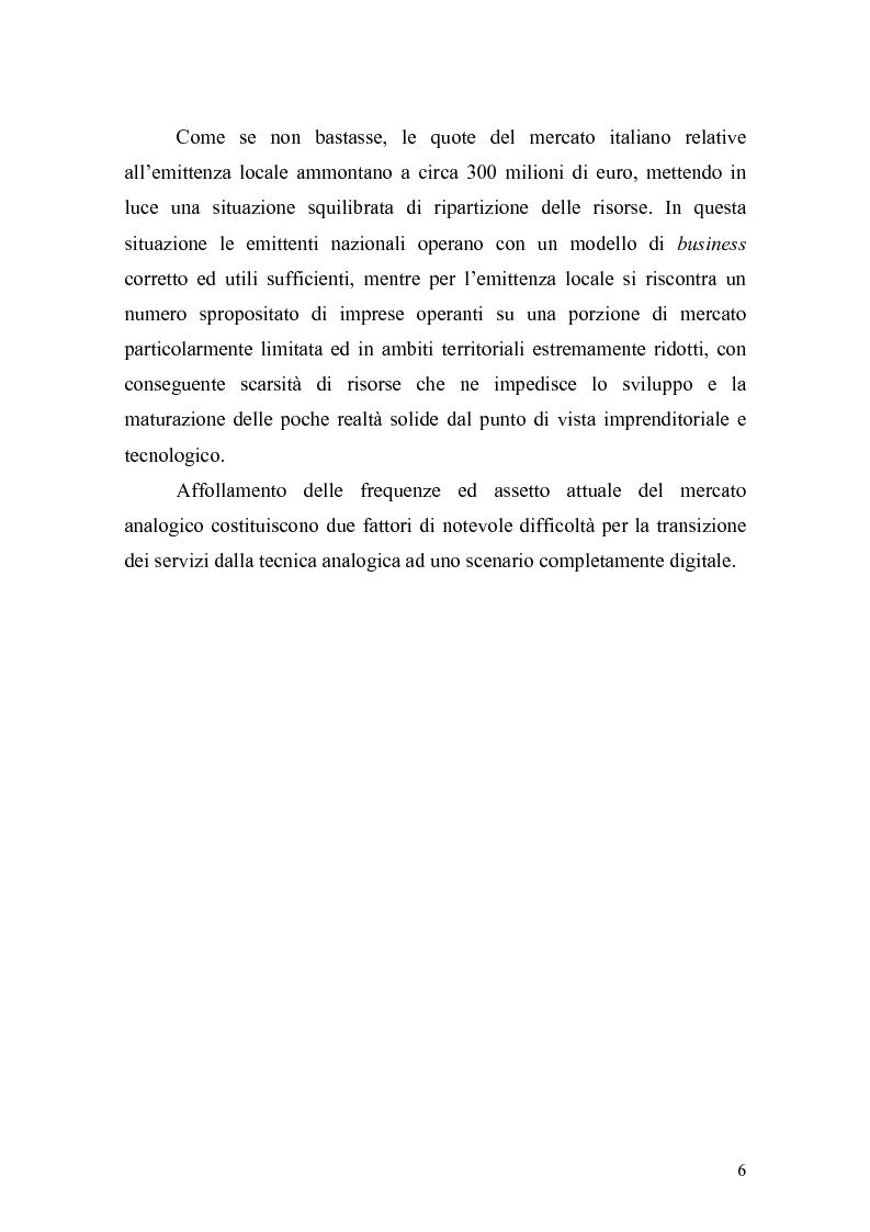 Anteprima della tesi: L'inizio di una nuova era: ''La televisione digitale'', Pagina 5