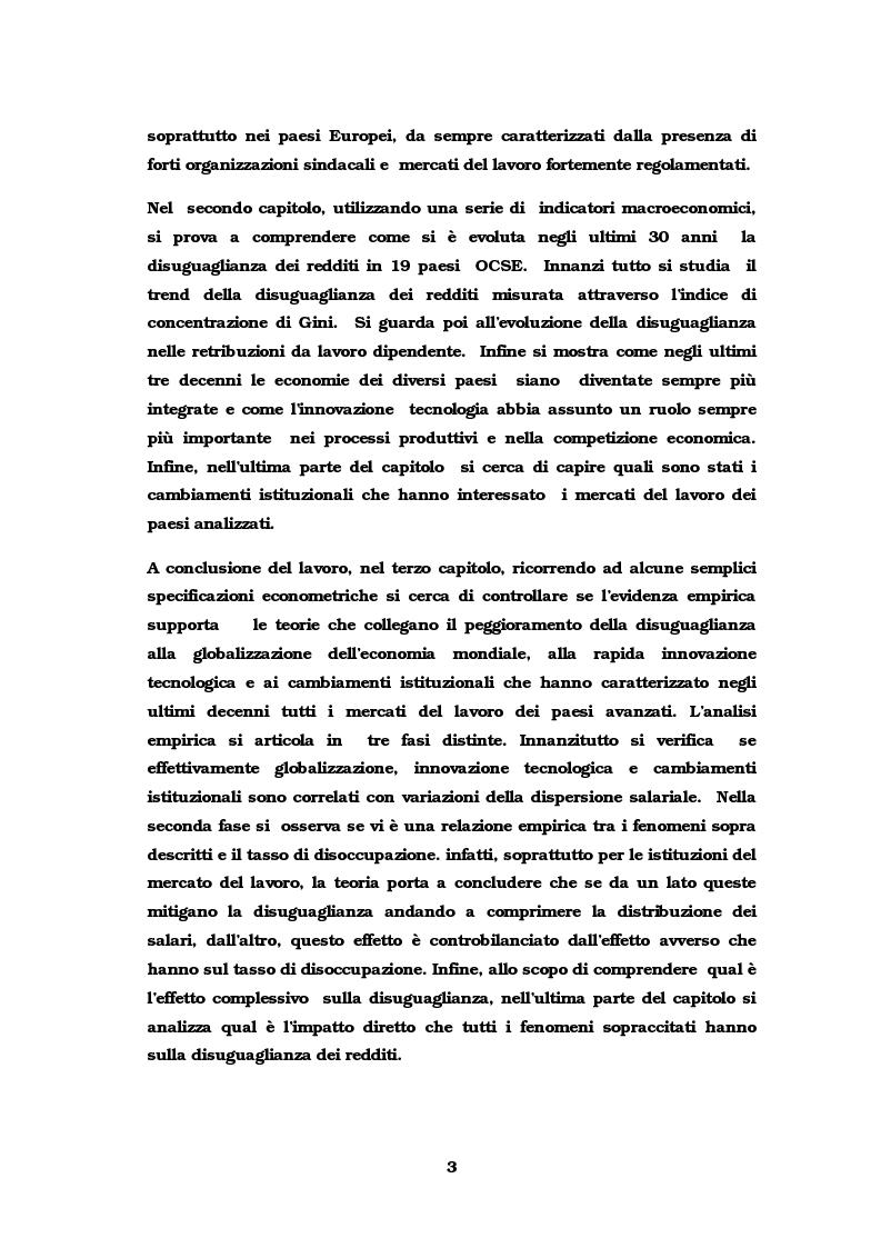 Anteprima della tesi: Dinamiche occupazionali e disuguaglianza, Pagina 4