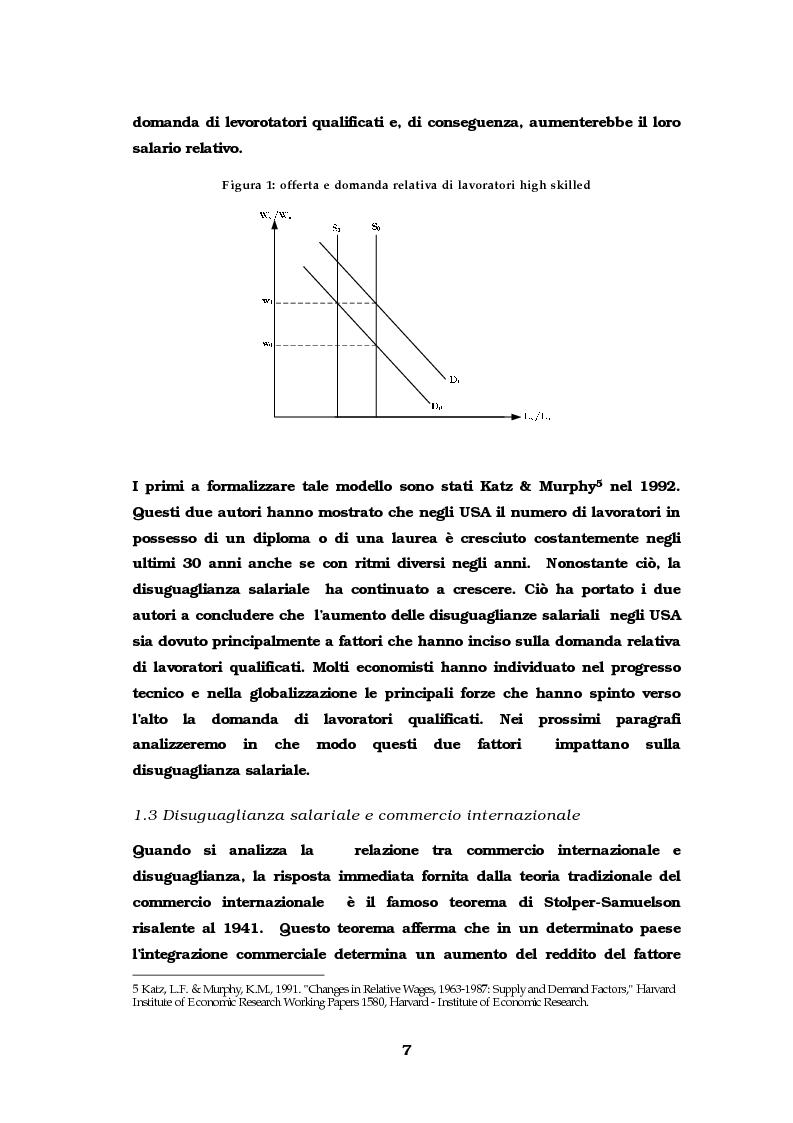 Anteprima della tesi: Dinamiche occupazionali e disuguaglianza, Pagina 8