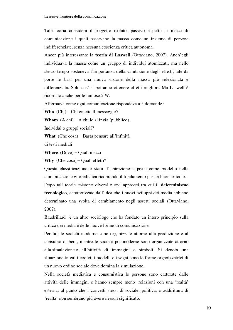 Anteprima della tesi: Le nuove frontiere della comunicazione: dalla carta stampata al web 2.0 una ricerca tra gli studenti universitari di Bologna, Pagina 11