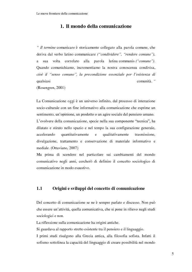 Anteprima della tesi: Le nuove frontiere della comunicazione: dalla carta stampata al web 2.0 una ricerca tra gli studenti universitari di Bologna, Pagina 6