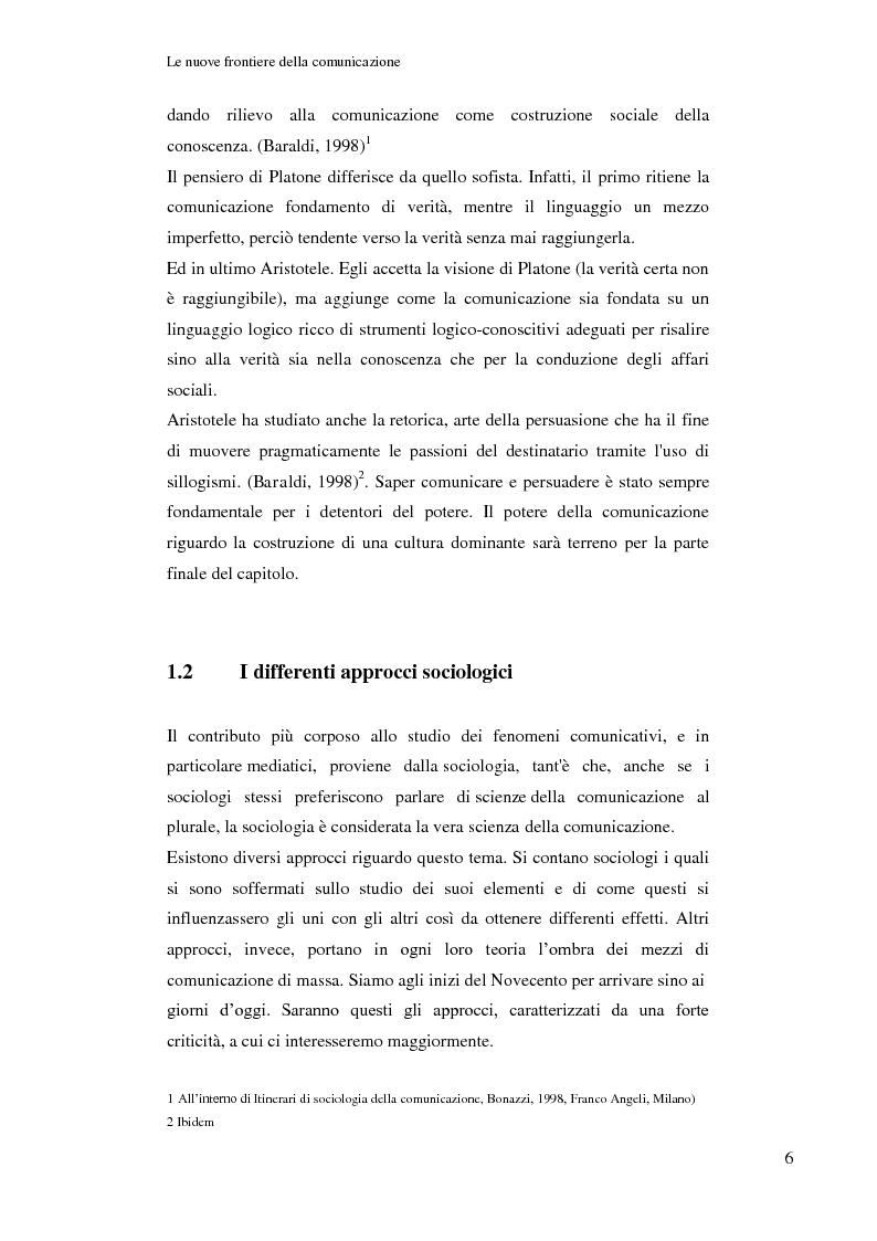 Anteprima della tesi: Le nuove frontiere della comunicazione: dalla carta stampata al web 2.0 una ricerca tra gli studenti universitari di Bologna, Pagina 7