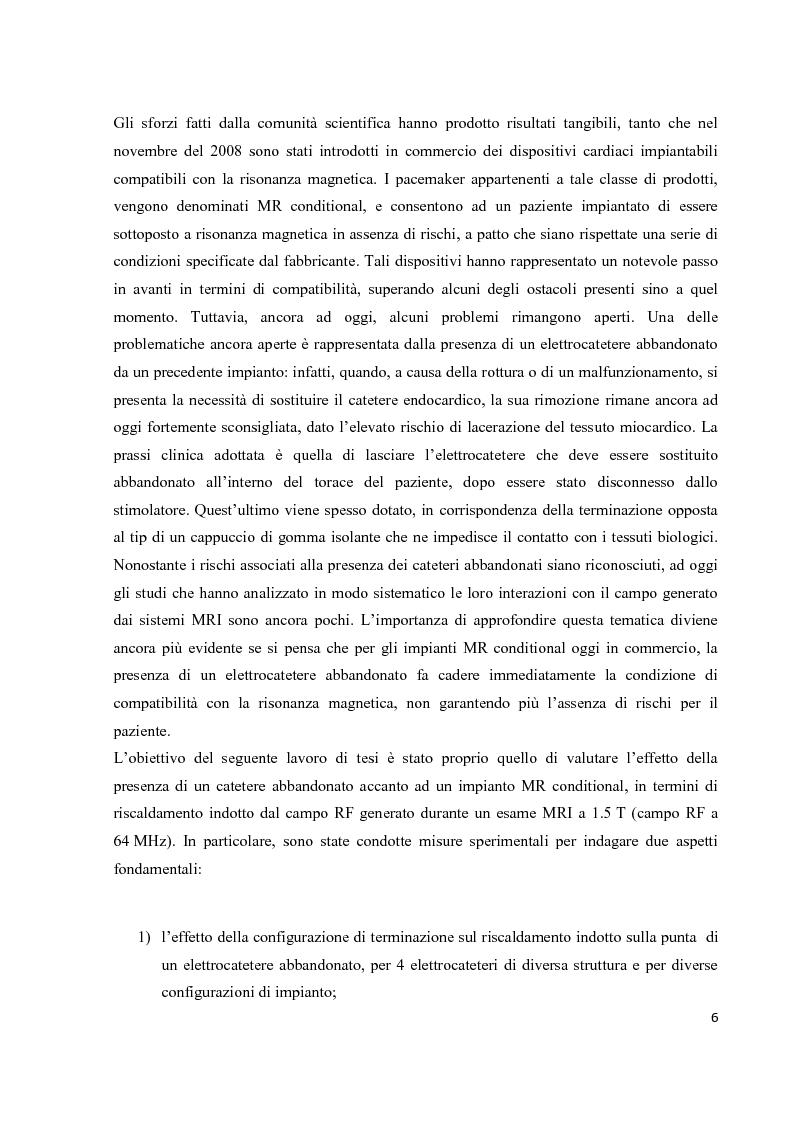 Anteprima della tesi: Valutazione sperimentale del riscaldamento indotto da risonanza magnetica su pacemaker di ultima generazione, Pagina 3