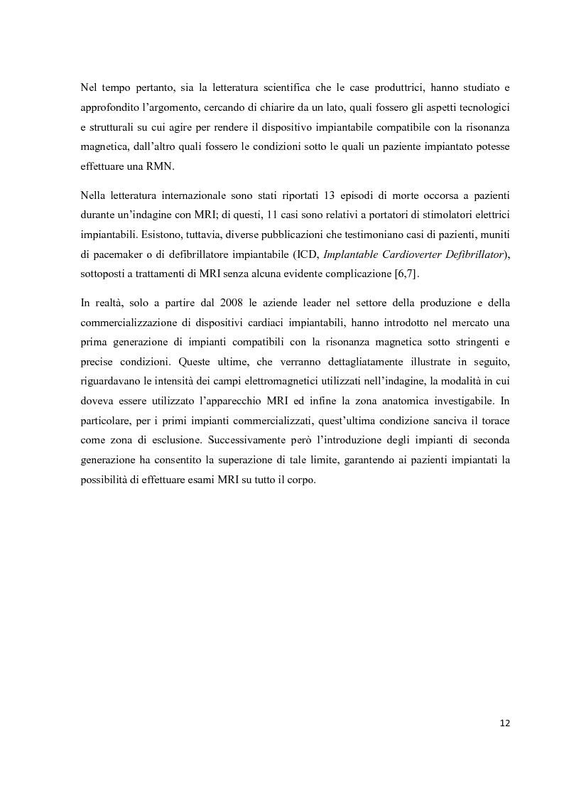 Anteprima della tesi: Valutazione sperimentale del riscaldamento indotto da risonanza magnetica su pacemaker di ultima generazione, Pagina 9
