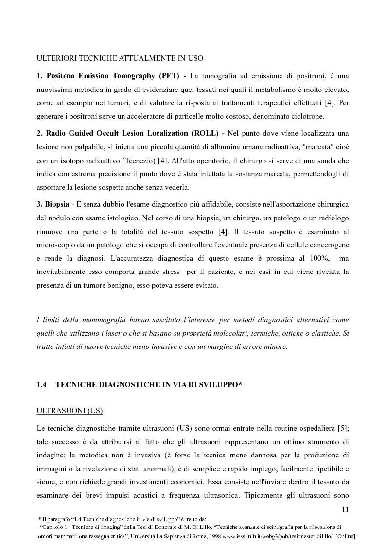 Anteprima della tesi: Analisi della fattibilità e valutazione del rischio di tecniche diagnostiche basate su radar UWB per l'individuazione del tumore al seno, Pagina 8